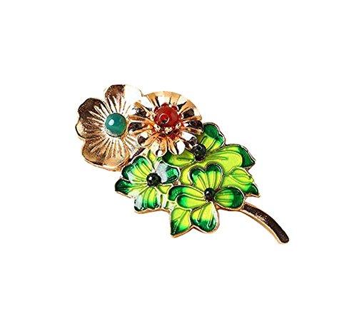 [Green Leaves] Accessoires de vêtements facile broche Broche