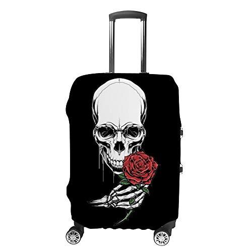 Ruchen - Funda protectora para maleta, diseño de calavera con cabeza de calavera,...