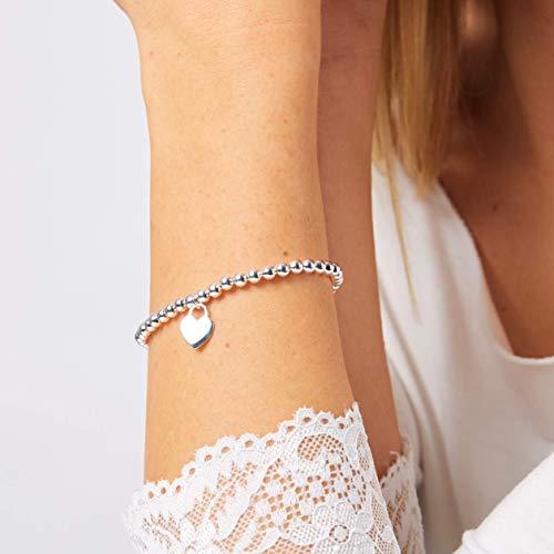 Herz Silber Kugelarmband 925 silber