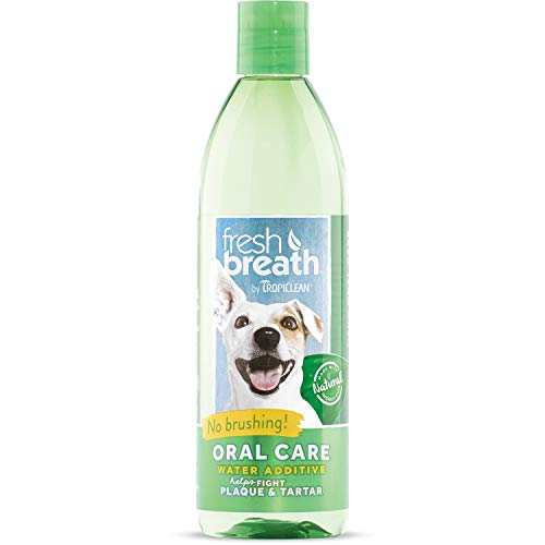 Fresh Breath by TropiClean Oral Care Water Additive for Pets, 16oz - Made in USA