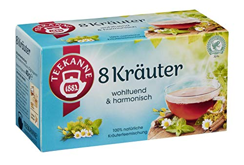 Teekanne - 8 Kräuter, 20 Doppelkammerbeutel (1 x 40 g Packung)