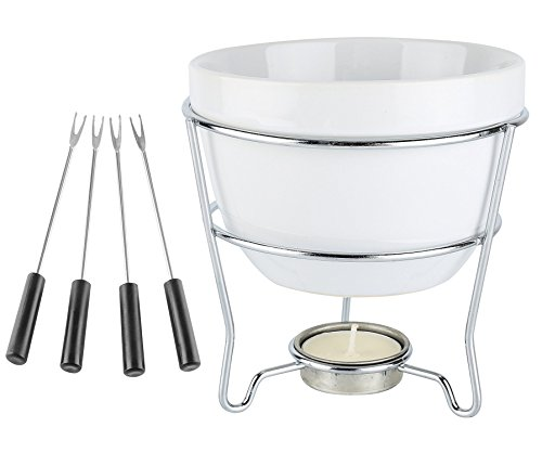 Home Essentials & Beyond White Chocolate Fondue Set In Color Box 5 D in, 1