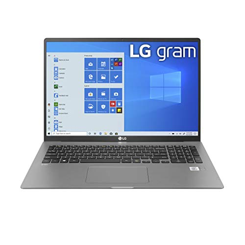 LG Gram Laptop - 17' IPS WQXGA (2560 x 1600) Intel 10th Gen Core i7 1065G7 CPU, 16GB RAM, 1TB M.2 NVMe SSD (512GB x2), 17 Hour Battery, Thunderbolt 3 - 17Z90N (2020)