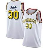DIMOCHEN Movement Ropa Jerseys de Baloncesto para Hombres, NBA Golden State Warriors #30 Stephen Curry, Fresco, cómodo, Camiseta Uniformes Deportivos Tops(Size:XXL,Color:G1)