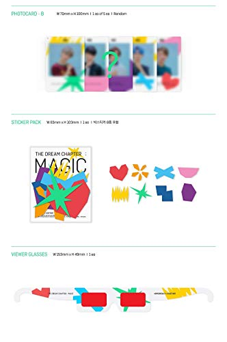 BigHit TOMORROW X TOGETHER TXT - THE DREAM CHAPTER : MAGIC [ARCADIA ver.] Album+Poster+Extra Photocards Set