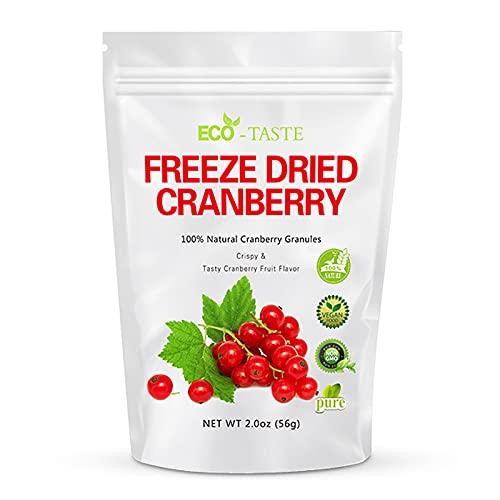 100% Natural Cranberry Fruit Snacks, 2.0oz, Freeze Dried Cranberry...