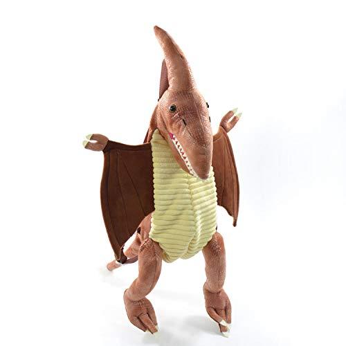 Kögler 85410 Dino Rugzak, voor kinderen, vliegtuig aurier, met daggreep en in lengte verstelbare draagriem, ca. 70 cm groot, bruin