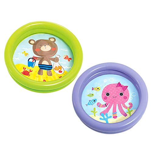 BricoLoco. Piscina Hinchable, Inflable Redonda de plástico intex. Ideal para Bebes, niños y niñas (Modelo según disponibilidad).