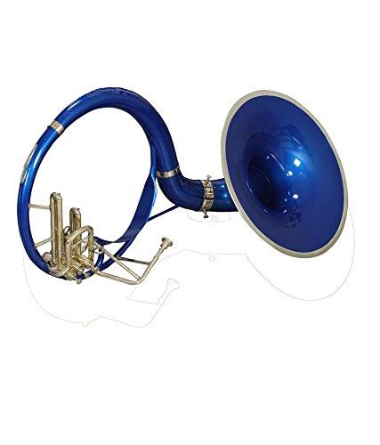 An-Nasir Ali Sousaphon B–flach 53,3cm Bell Tuba blauen und Messing Finish W/MP