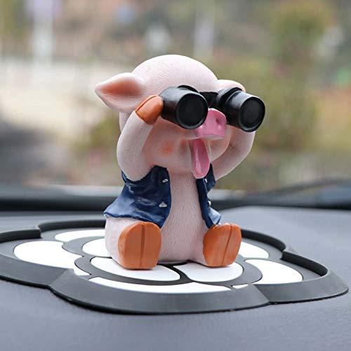 Auto schwingt Schwein niedlich enden männer und weiblich schütteln Schlittenschwein Auto Dekorationen 9.2 * 8.3cm Blau