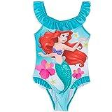 Costume da bagno da principessa Disney, costume da bagno intero da bambina Ariel, personaggio della sirena, 3-9 anni, Blu 2, 4-5 Anni