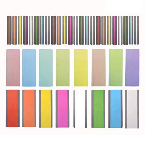 40 Pieces Guided Reading Highlight Strips with 3 Style Colored Overlay Bookmarks Reading Tracking Rulers for Children, Teachers, and Dyslexics (16 Standard Size and 24 Large Size)