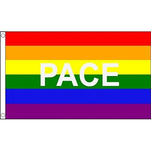 3ft x 2ft (90 x 60 cm) GAY PRIDE RAINBOW rythme multicolore 100% Matériau POLYESTER flag banner idéal pour BAR CLUB FESTIVAL affaires Décoration pour fête