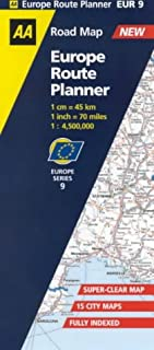Europe Route Planner Map (AA Road Map Europe Series)