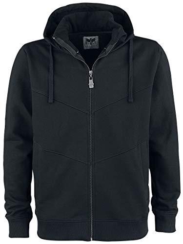 Black Premium by EMP Back in Homme Sweat-Shirt zippé à Capuche Noir XL