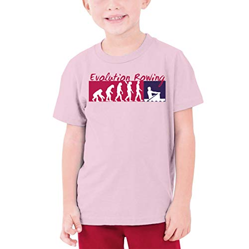 MiiyarHome Teenage T-Shirt Concept 2 Rower, Kids Teen Short Causal Sleeves Tee Children Pink XL