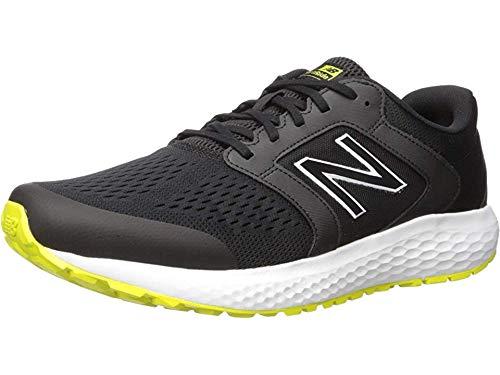 new balance Men's 520v5 Cushioning Running Shoe, Black/Sulfur, 9.5 D US