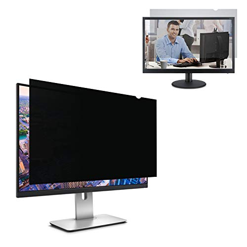 ZOODGO 20 Inch Computer Privacy Filter for 20' Widescreen Monitor(16:9 Aspect Ratio) Screen Protector Film for Data Confidentiality Anti-Spy Anti-Blue Light Anti-Glare Fuss-Free Installation