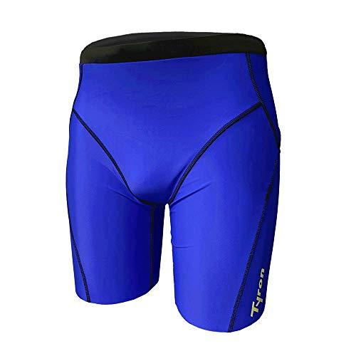 Tyron Jammer Athletic Line (Royalblau - S) | |Badehose für Herren & Jungen | Schwimm Training | Wettkampf | Tight | knielange Schwimmhose