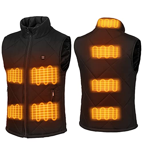 Heating Vest for Men Outdoor Working Riding Hunting USB Charging...