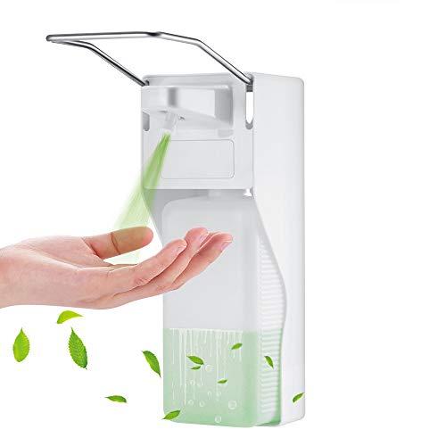 Cofemy Dispensador de jabón 1000 ml, dispensador de jabón Sanitario con Mango de Acero Inoxidable, Bomba de jabón a presión en el Codo, Utilizado en hospitales, hogares y escuelas