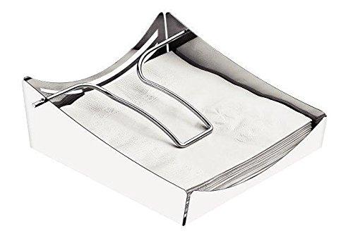 Porta Guardanapos em Aço Inox Tramontina Ciclo Prata Aço Inox