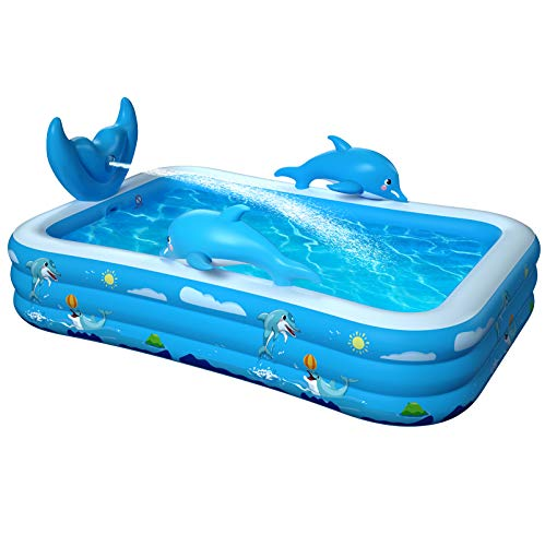 VOXON Aufblasbare Pool Sprüh Planschbecken Kinderbecken, 250 x 180 x 55CM Family Pool/Schimmbecken/Kinderpool