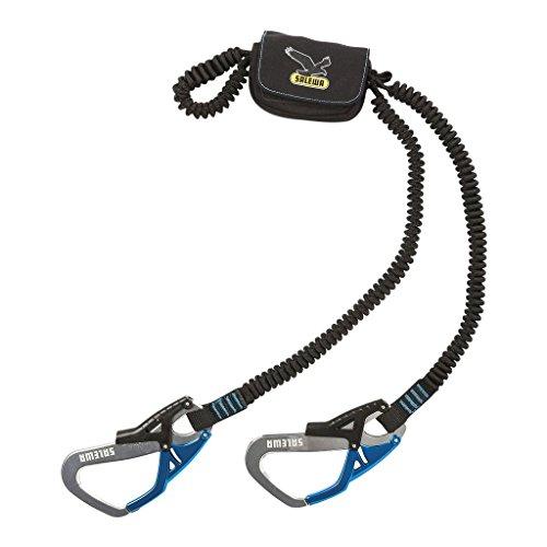 SALEWA Klettersteigset Set Via Ferrata Ergo Tex, Black/Blue, 29 x 17.5 x 5.5 cm, 00-0000000957