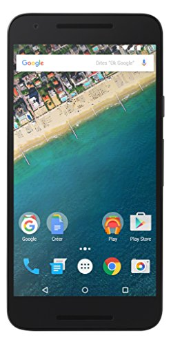 LG Nexus 5X - Smartphone libre Android (pantalla 5.2', cámara 12.3 Mp, 16 GB, Quad-Core a 1.44 GHz, 2 GB RAM), color negro (importado)