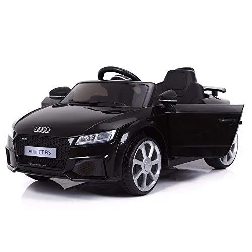 Cristom Voiture de Sport électrique 12V pour Enfant Audi TT RS Télécommande 2.4Ghz- Slot USB et Prise MP3 -...