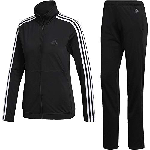 adidas Damen Back 2 Basics 3-Stripes Trainingsanzug, Black/White, L
