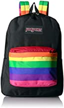 JanSport High Stakes School Backpack - Fun Pack Filled With Personality | Rainbow Dreams