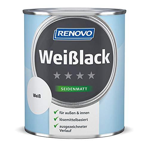 Renovo Weißlack seidenmatt weiß 750 ml für innen & außen