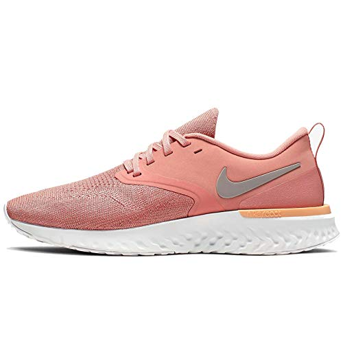 Nike W Odyssey React 2 Flyknit, Zapatillas de Running Mujer, Rosa (Pink Quartz/Pumice/Platinum Tint/Celestial Gold 602), 38.5 EU