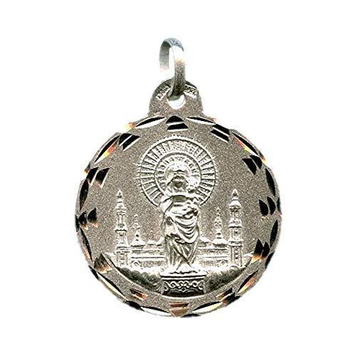 Medalla Virgen del Pilar 23 MM Plata DE Ley