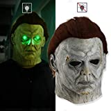 Poxcap Halloween Party Face Scary Head Disfraces Atrezzo Horror Cover Costumn Zombie Covers Latex Hair Set Adult Old Man