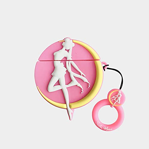BlossomingLove Compatible with AirPods Case Keychain Full Protective Premium PVC Silicone Cover Fashion Dope Self-Design Sailormoon Style Skin for AirPods Charging Case (sailormoon)