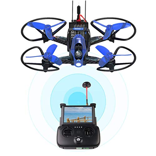 WD 110 Pro RC Racing FPV Drone with 720P Wide-Angle HD Camera Live Video Quadcopter with Altitude Hold, Stepless Speed with 5.8G LCD Screen Real Time Transmitter F3 Fight Control