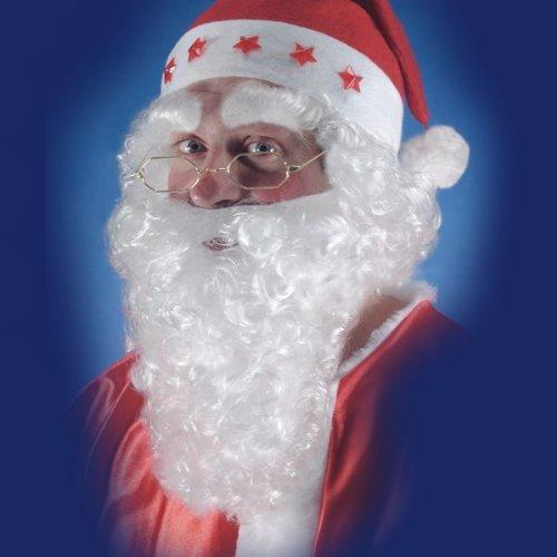 Nikolaus Bart weiß Weihnachtsmann Santa Claus Zubehör Nikolausbart