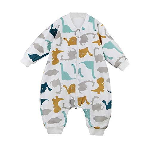 *Happy Cherry Neugeboren Babyschlafsack Atmungsaktiv Baumwolle Strampelsack mit Beinen Abnehmbare Ärmel Kugelschlafsack*