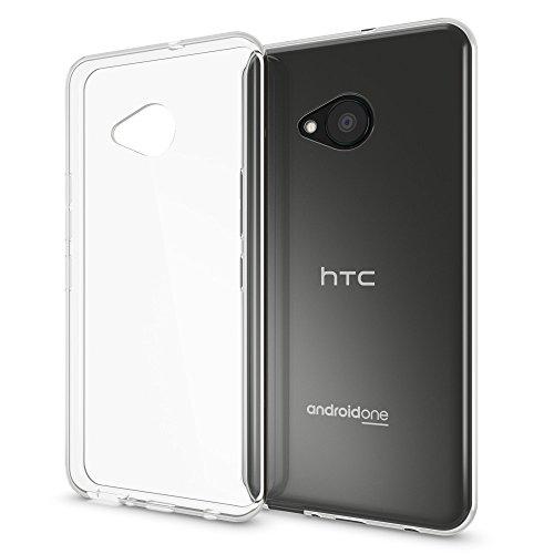 NALIA Handyhülle kompatibel mit HTC U Play, Ultra-Slim Soft TPU Silikon Hülle Cover Crystal Clear Schutzhülle Dünn Durchsichtig, Etui Handy-Tasche Backcover Skin Smart-Phone Hülle Bumper - Transparent