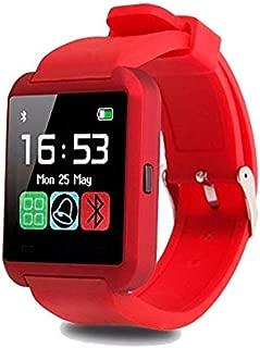 Smartwatch U8 Color Rojo Bluetooth Reloj Inteligente - Compatible iOS / Android