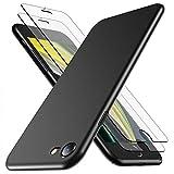 RANVOO [1 Hülle und 2 Panzerglas kompatibel mit iPhone SE 2020/8 / 7, Dünn Matt Leicht Slim...