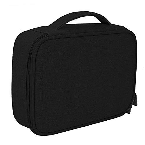 Bolsa de almacenamiento digital Cable USB Bolsa de viaje - Una sola capa - Negro