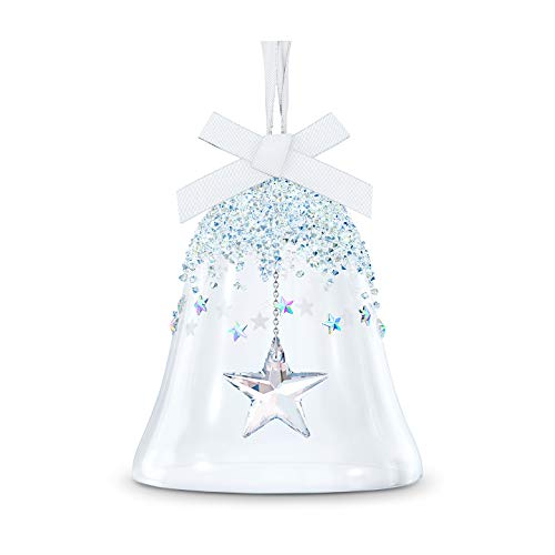 SWAROVSKI Bell, Star, Christmas Ornament, One Size, Bell & Star Large