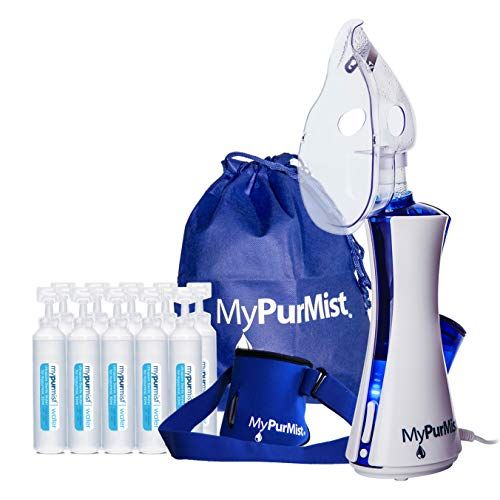 New! 2020 Model MyPurMist Classic Handheld Personal Vaporizer and Humidifier (Plug-in) with Free Hands-Free Holder