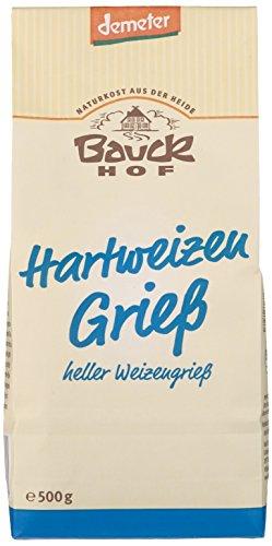 Bauckhof Hartweizengrieß Demeter, 6er Pack (6 x 500 g)