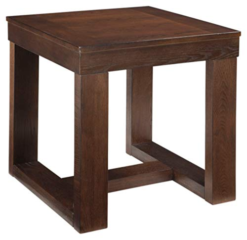 Big Sale Ashley Furniture Watson Square End Table, Dark Brown