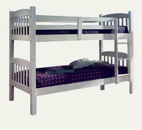 Elegante madera maciza de roble de doble placa fuerte y robusto, cualquier habitación de literas para los niños,Grey