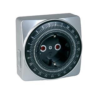 Unitec 44018 - Enchufe con temporizador para interiores (diario, analógico), color plateado (B003BIEQLW) | Amazon price tracker / tracking, Amazon price history charts, Amazon price watches, Amazon price drop alerts